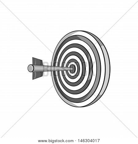 Darts icon in black monochrome style isolated on white background. Toy symbol vector illustration