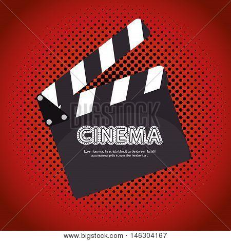 cartoon clapperboard film festival movie design vector illustration eps 10