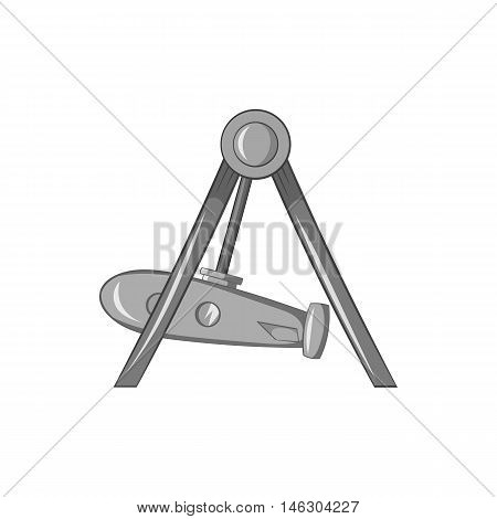 Rocket swing icon in black monochrome style isolated on white background. Attraction symbol vector illustration