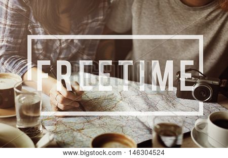 Free Time Freedom Break Emancipated Harmony Relaxation Concept