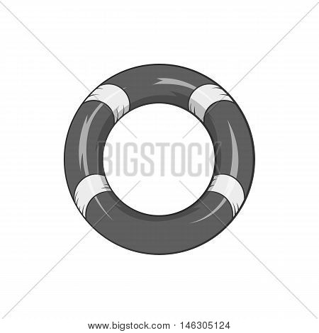 Lifeline icon in black monochrome style isolated on white background. Salvation symbol vector illustration
