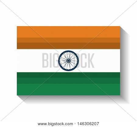 flag welcome india country design vector illustration eps 10