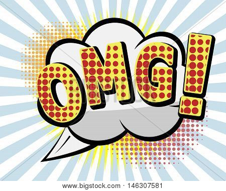OMG Comic Speach BubblePop art Vector Background Vector