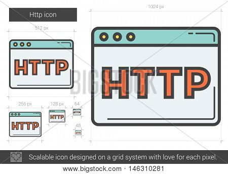 Http vector line icon isolated on white background. Http line icon for infographic, website or app. Scalable icon designed on a grid system.