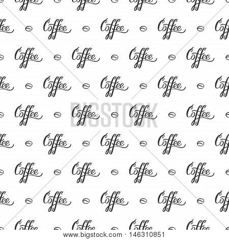Vector seamless pattern with handrawn lettering