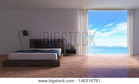 3Ds Rendered Image Of Seaside Room