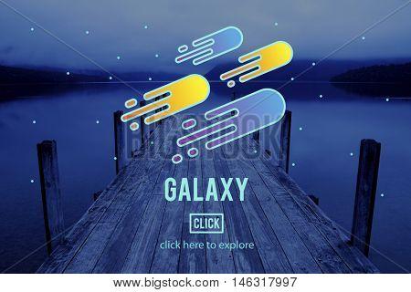 Cosmos Galaxy Astronomy Exploration Nebular Concept