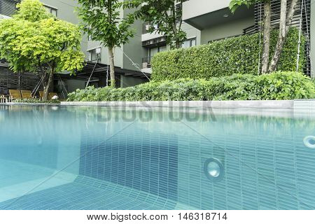 double side of view in swimming pool can use to display or montage product