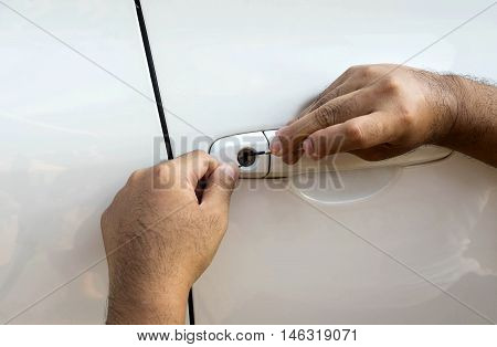 locksmith will open car doorcar door service - can use to display or montage on product