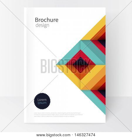 Flat stile white Minimalistic cover template. Book design creative concept cover for catalog, report, brochure. Modern abstract geometric background. Simple geometric shapes