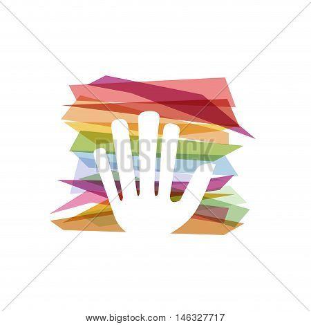 Vector concept of bureaucracy, hand and strips