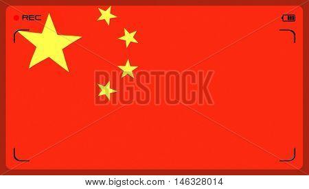 Stylized Chinese flag
