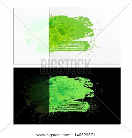 smudge and smear a brush in a card vector background illustration clip-art