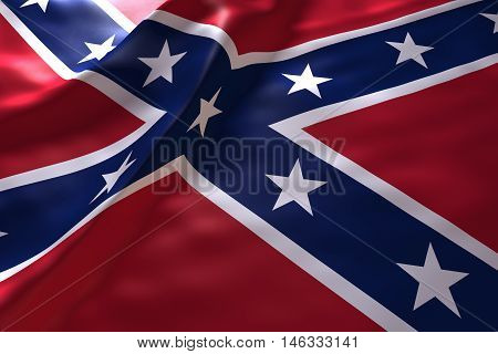 Confederate States of america flag background , 3d rendering image