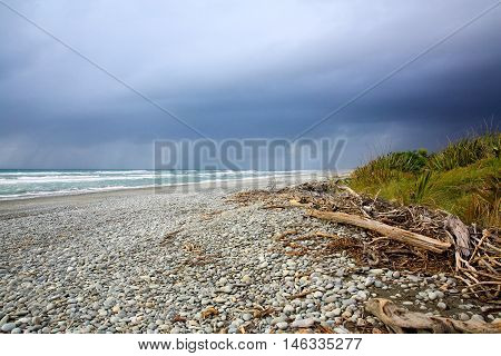 Greymouth Beach, West Coast Of South Island, New Zealand