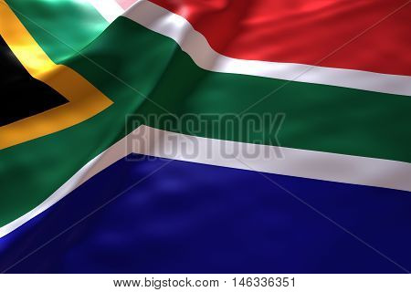 South Africa flag background , 3d rendering image