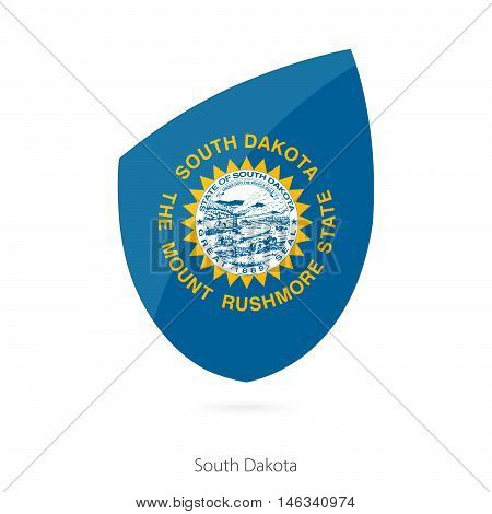 Flag of South Dakota in the style of Rugby icon. Vector Illustration.