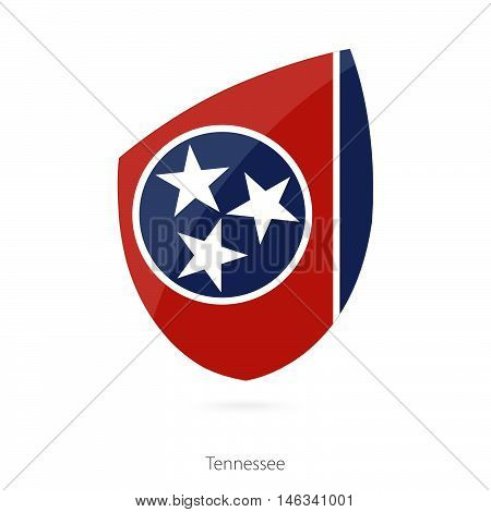 Flag of Tennessee in the style of Rugby icon. Vector Illustration.