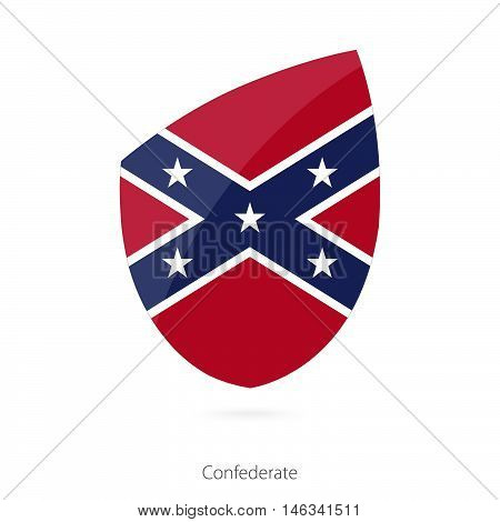 Flag of Confederate in the style of Rugby icon. Vector Illustration.