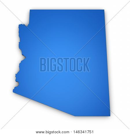 Arizona US State map and shape 3D illustration.