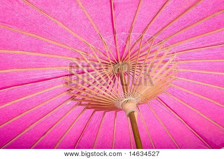 A background of colorful umbrellas with copy space