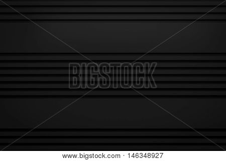 black siding line layout paper material background 3d render