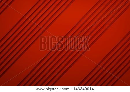 red siding oblique line layout paper material background 3d render