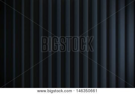 black zig zag Metal container background 3d render