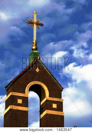 Cross On A Church