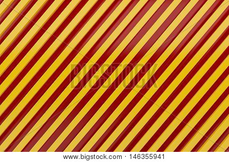 caution sign siding oblique line layout metal material background 3d render