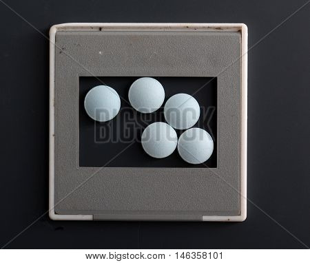 picture of a blue medical pills, health concept