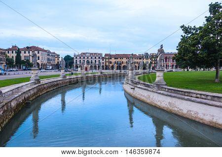 Piazza of Prato della Valle Padova Italy.