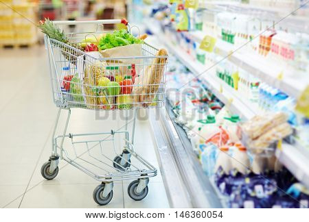 Products in consumer cart
