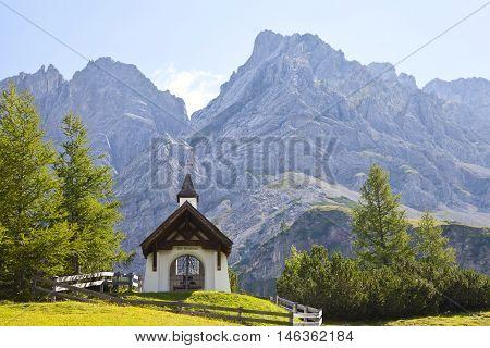 Little chapel of St. Barbara near Biberwier in Tirol Austria