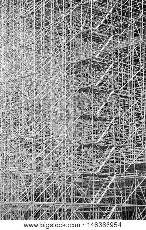 enormous scaffolding, texture structure