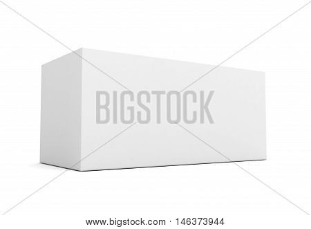 blank retail product box 3d 3d illustration isolated on white background
