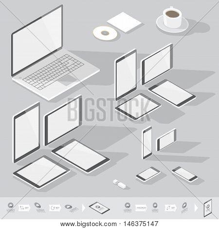 Isometric Corporate Identity Template