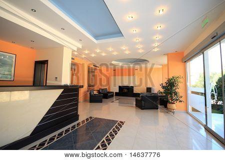 Luxus Hotel-Lobby-Rezeption-Bereich