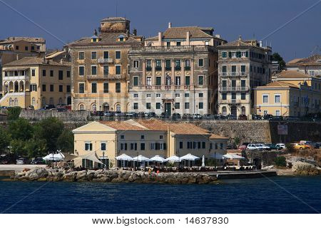Old town of Corfu Greece