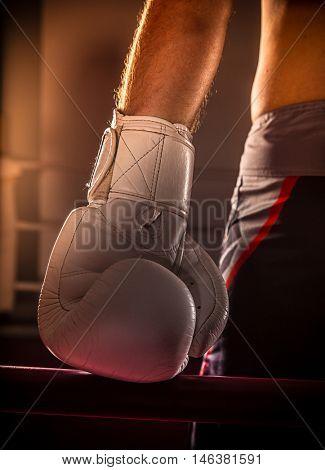 boxing match, close-up photo.