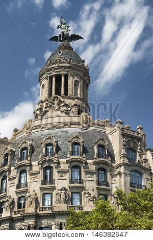 Barcelona (Catalunya Spain): historic building along the Passeig de Gracia