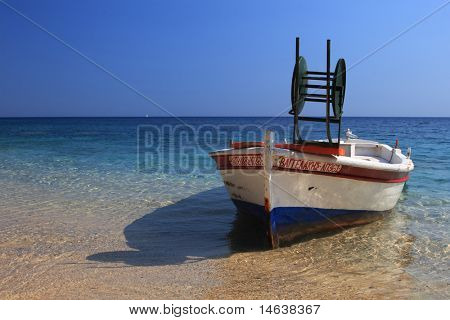 Fishing boat in Parga Greece