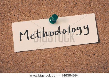 Methodology note pin on the bulletin board