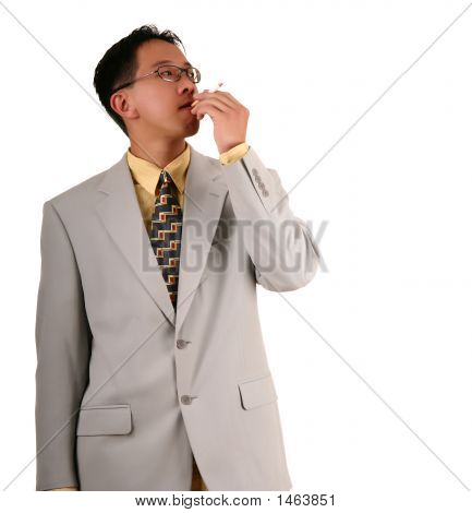 Biz Man Smoking 2