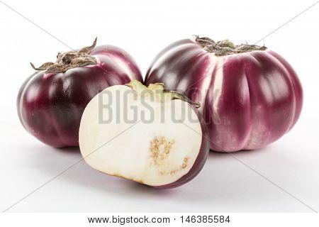 Helios eggplant isolated on white background