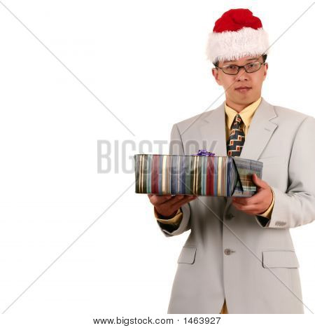 Santa Biz Man Offering Gift 2