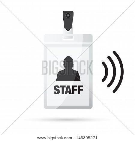 a black id man lanyard staff wireless
