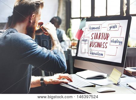 Startup Business Entrepreneurship Ideas Concept