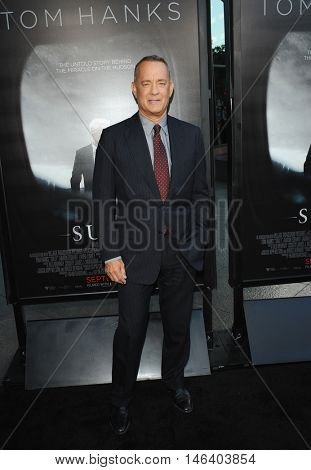 Tom Hanks at the Los Angeles screening of 'Sully' held at the DGA Theater in Hollywood, USA on September 8, 2016.
