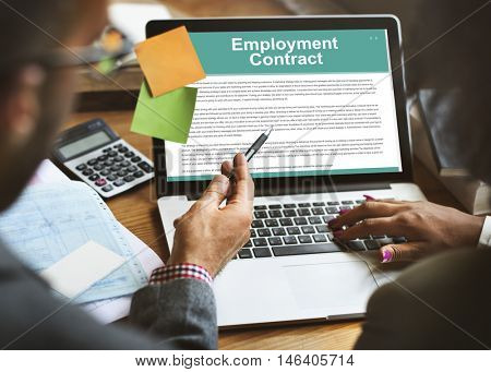 Employment Contract Obligation Terms Agreement Concept